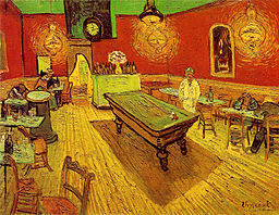 "Thanks, Vincent Van Gogh, for the public domain artwork!  ""The Night Cafe"" 1888"